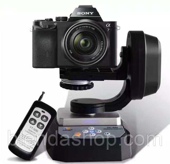 Обертовий моторизований штатив - головка з пультом ДУ - YT-500 від Zifon для камер і телефонів