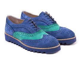 Броги Etor 4581-0126-4439-4450 синій+зелений