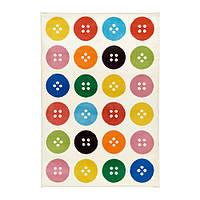 """ИКЕА """"ТОСТРУП"""" Ковер, короткий ворс, разноцветный, 133x195 см."""
