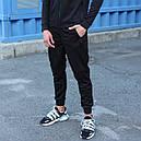 Спортивные штаны мужские черные Актив размер XS, S, M, L,XL, фото 2