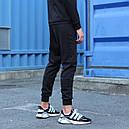 Спортивные штаны мужские черные Актив размер XS, S, M, L,XL, фото 4