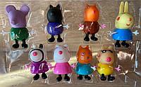 Игровой набор фигурок Друзья Свинки Пеппы YM665-11, Овечка Сьюзи, Пони Педро, Слоненок Эдмонд, Волчица Вэнди