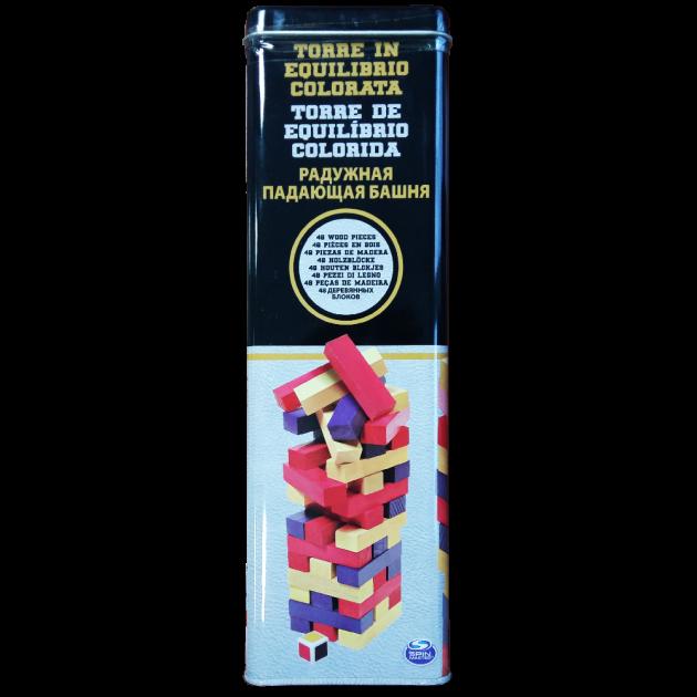 Настольная игра «Дженга с цветными брусочками» (в жестяной коробке) SM98365/6033150