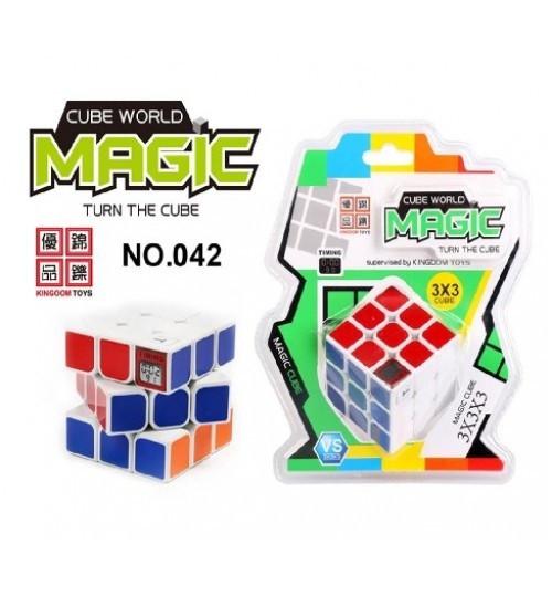Кубик логіка 3*3, з таймером, на блістері 17*21см