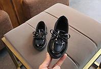 Туфли  нарядные детские  на девочку  весна-осень черные  21-37 р.