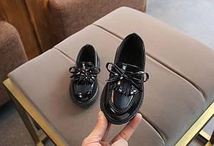 Туфли  нарядные детские  на девочку  весна-осень черные  21-37 р., фото 2