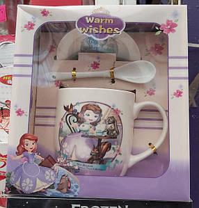 Подарочная чашка из керамики для детей Принцесса София