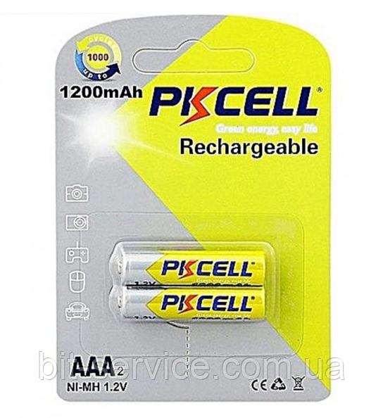 Аккумулятор PKCELL 1.2V  AAA 1200mAh NiMH Already Charged, 2 штуки в блистере цена за блистер