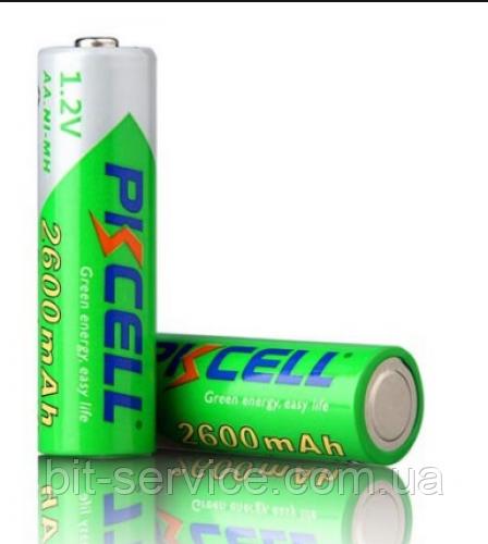 Акумулятор PKCELL 1.2 V AA 2600mAh NiMH Already Charged, 2 штуки на блістері ціна за блістер