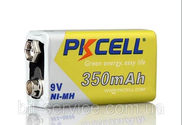 Аккумулятор PKCELL 9V/350mAh, крона, NiMH Rechargeable Battery
