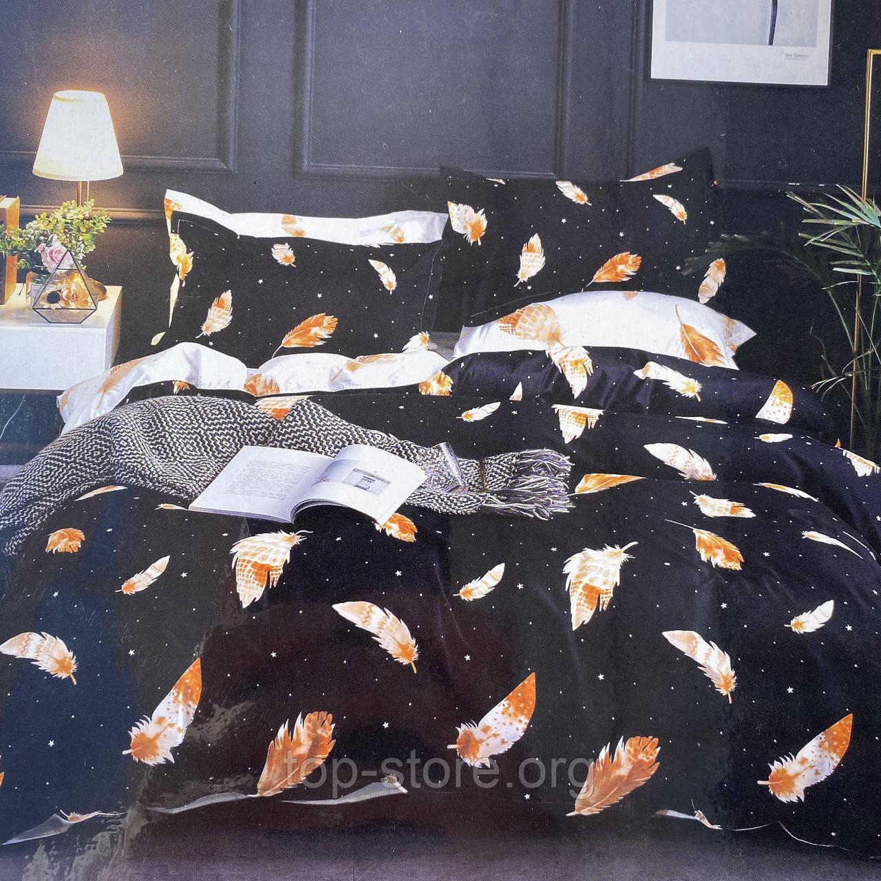 Семейный комплект постельного белья с простынью на резинке. Ткань - Поплин