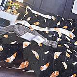 Семейный комплект постельного белья с простынью на резинке. Ткань - Поплин, фото 2
