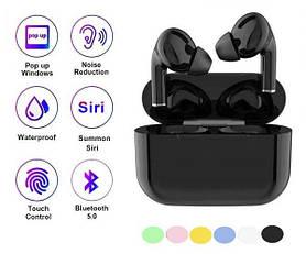 Беспроводные наушники Air Pro 3 в стиле Apple AirPods сенсорные с кейсом Чёрные