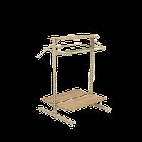 Стеллаж островной для магазина детской одежды WIKO (ВИКО). Стойка торговая с вешалами, фото 1
