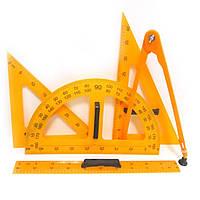 Набір для дошки 5 предметів (лінійка,циркуль,транспортир,трикутники)
