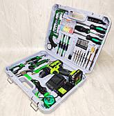 Аккумуляторный шуруповерт Белорус МТЗ18 2 ЛН в кейсе с набором инструментов, фото 3