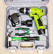Аккумуляторный шуруповерт Белорус мтз 12-2ЛН в кейсе с набором инструментов, фото 3