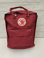 Городской рюкзак-сумка Канкен Kanken цвет бордо, фото 1