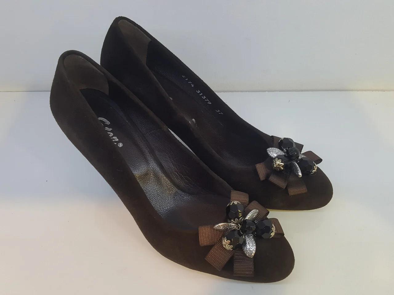 Туфлі Etor 2174 коричневий