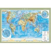 Світ 1:22 000 000  фізична картон