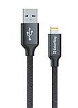 Кабель ColorWay USB-Lihgtning (2.4), 2м Black (CW-CBUL007-BK), фото 2