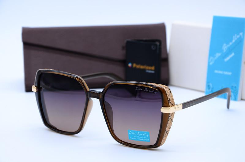 Женские солнцезащитные квадратные очки Rita Bradley коричневые 701 с03