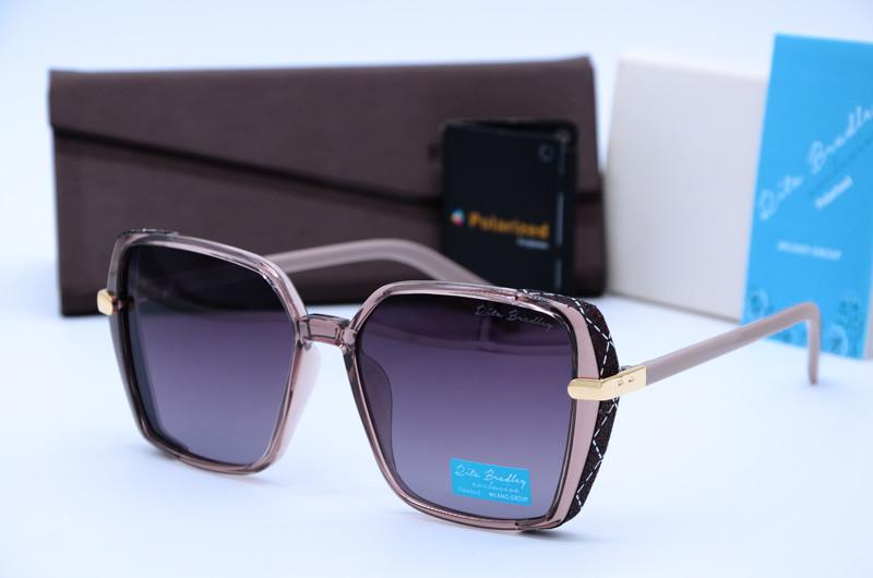 Женские солнцезащитные квадратные очки Rita Bradley фиолетовые 701 с04