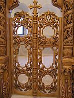 Царские врата  из дерева,с виноградной лозой
