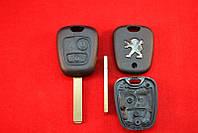 Корпус ключа Peugeot 107, 208 Partner, ключ 2 кнопки лезвие VA2 оригинал