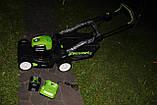 Аккумуляторная  газонокосилка GreenWorks GD80LM41 Pro 80V 41 см бесщёточная с АКБ 2 Ач 80 В и ЗУ, фото 2