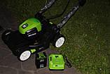 Аккумуляторная  газонокосилка GreenWorks GD80LM41 Pro 80V 41 см бесщёточная с АКБ 2 Ач 80 В и ЗУ, фото 3
