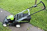 Аккумуляторная  газонокосилка GreenWorks GD80LM41 Pro 80V 41 см бесщёточная с АКБ 2 Ач 80 В и ЗУ, фото 4