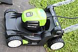 Аккумуляторная  газонокосилка GreenWorks GD80LM41 Pro 80V 41 см бесщёточная с АКБ 2 Ач 80 В и ЗУ, фото 9