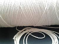 Нить-шпагат для сарделек белая витая 410 текс