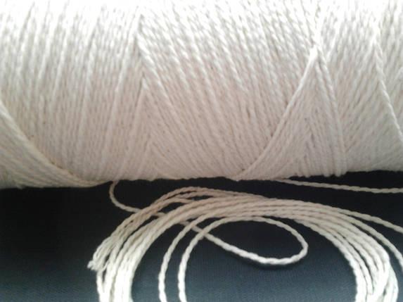 Нить-шпагат для сарделек белая витая 410 текс, фото 2