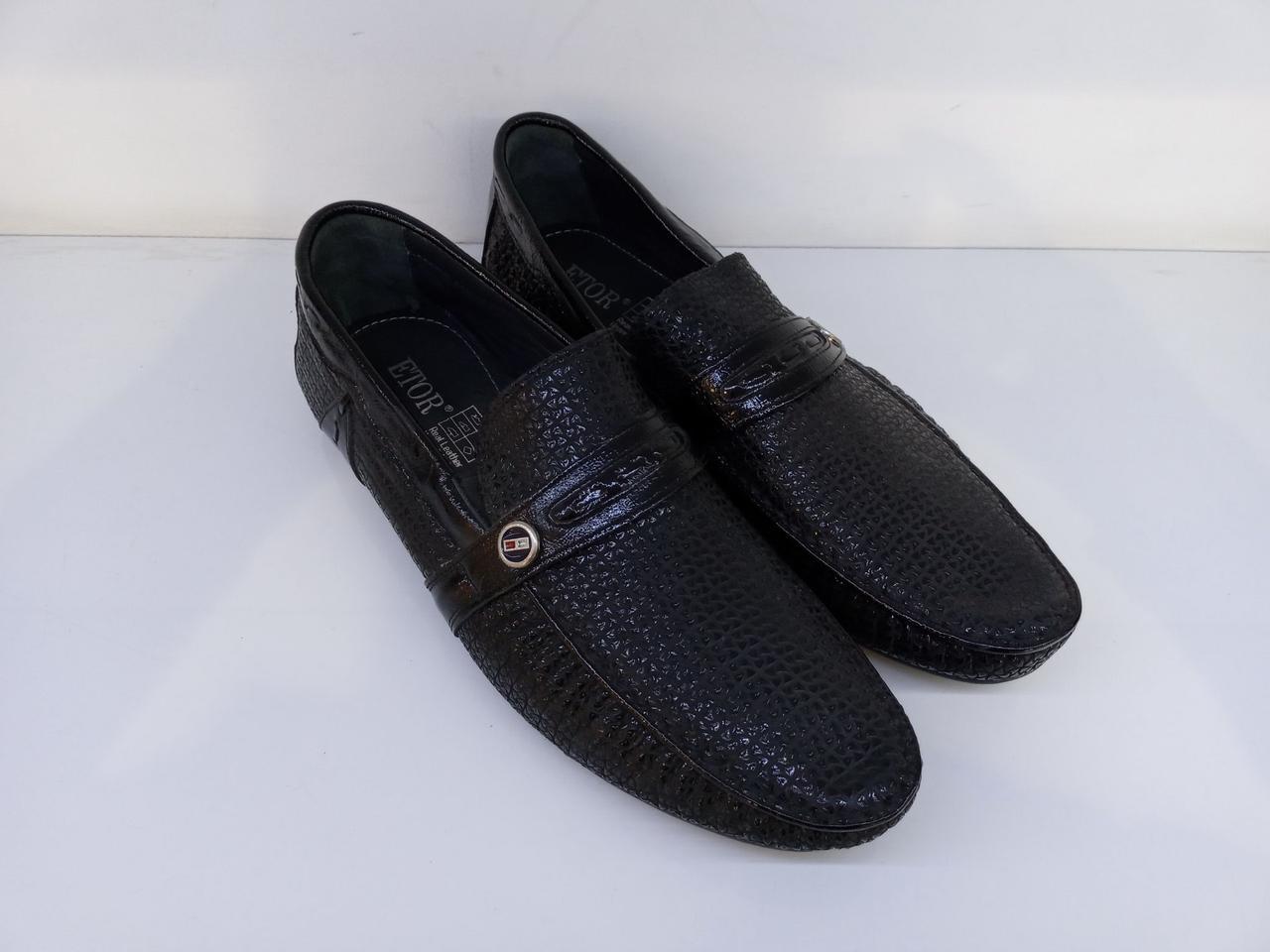 Мокасини Etor 6984-7016 чорний