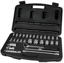 """Набор инструментов 1/2"""", 30ед (головки, трещотка, удлинители, вороток, кардан)  STANLEY 1-94-653"""