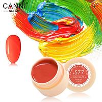 Гель-краска Canni №577 ярко-красная, неоновая, 5 мл