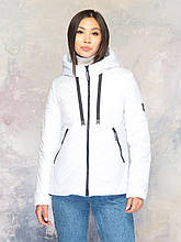 Стильная женская куртка размер плюс Лира белый (42-56)