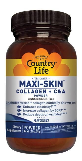Maxi-Skin коллаген+витамины для кожи. Country Life, сделано в США