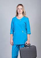 "Медицинский костюм женский ""Health Life"" х/б синий 2226"