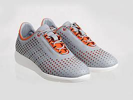 Кросівки Etor 6877-1888 сірий+помаранчевий