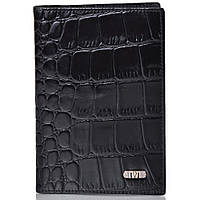 Кожаная мужская обложка для паспорта WANLIMA  (ВАНЛИМА) W120467401494-black