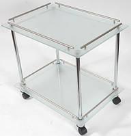 Стеклянный сервировочный стол