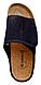Мужские ортопедические тапочки inblu натуральная пробка и липучка.FM-1V вельвет  черные 44 размер, фото 4