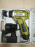 Шуруповерт аккумуляторный Eltos ДА 12/2 Li в кейсе . 2 аккумулятора