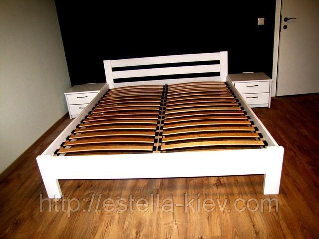Буковая кровать Рената Эстелла 160х200 (107) Белая