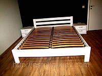 Буковая кровать Рената 160х200 (107) Белая Эстелла