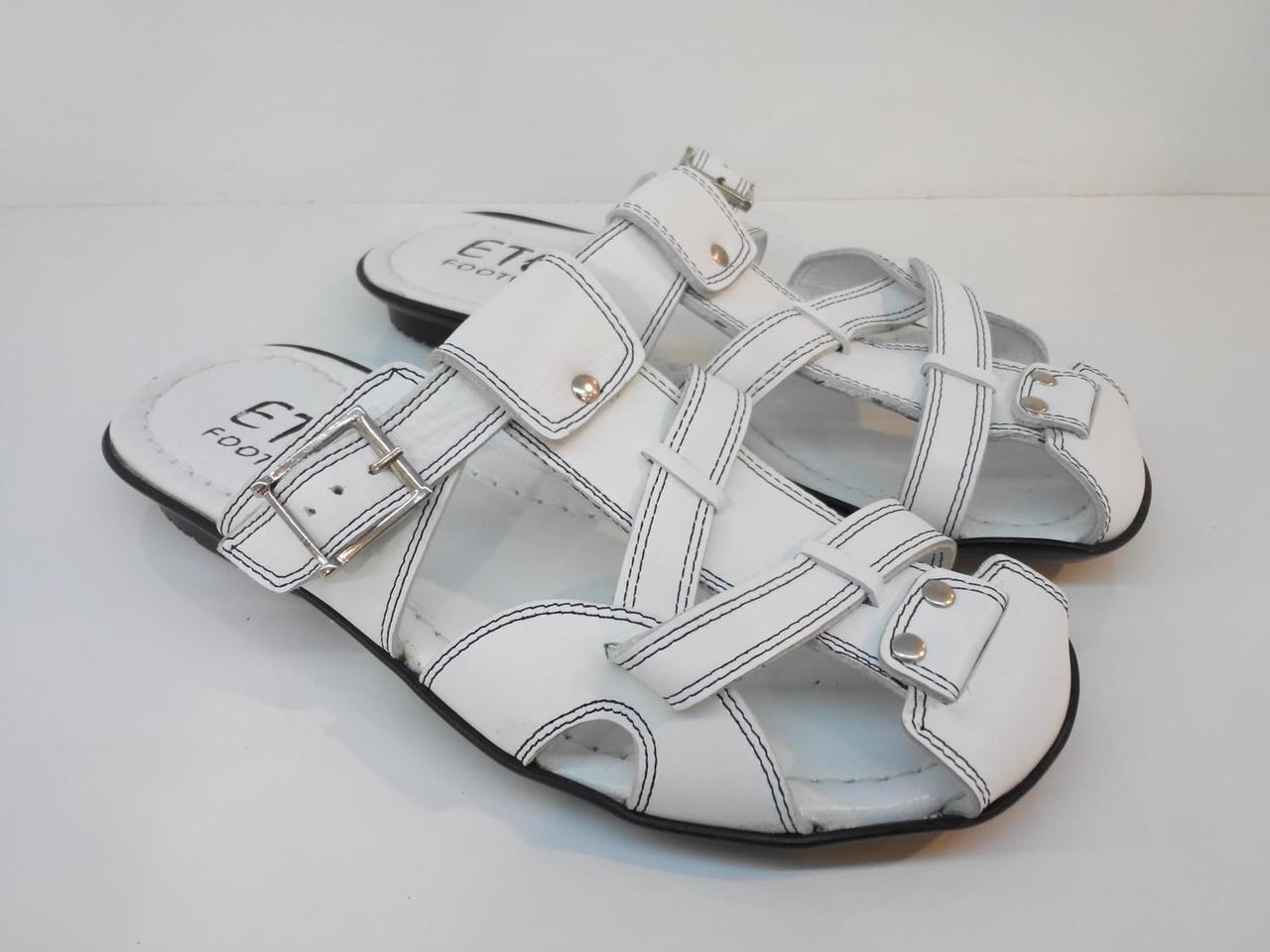 Шльопанці Etor 342-7051-2 білі