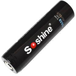 Літієвий акумулятор Li-Ion 18650 Soshine 3.7 V (3600mAh), захищений